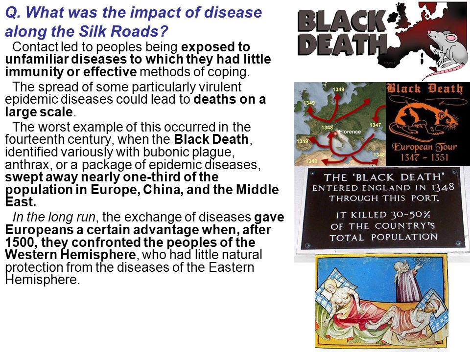 Q. What was the impact of disease along the Silk Roads