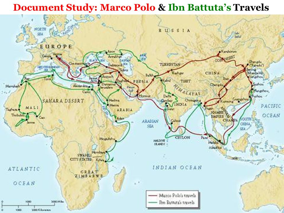 Document Study: Marco Polo & Ibn Battuta's Travels