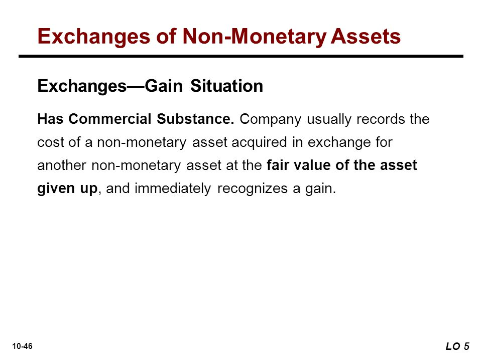 Exchanges of Non-Monetary Assets