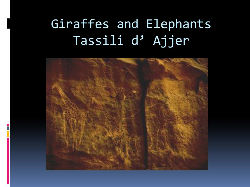 Giraffes and Elephants Tassili d' Ajjer