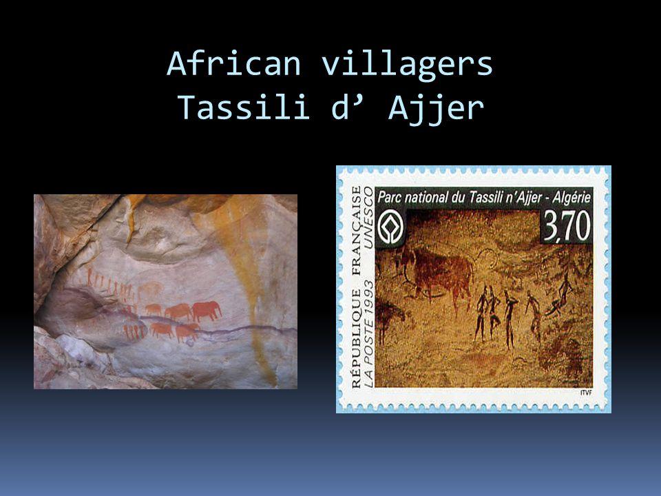 African villagers Tassili d' Ajjer