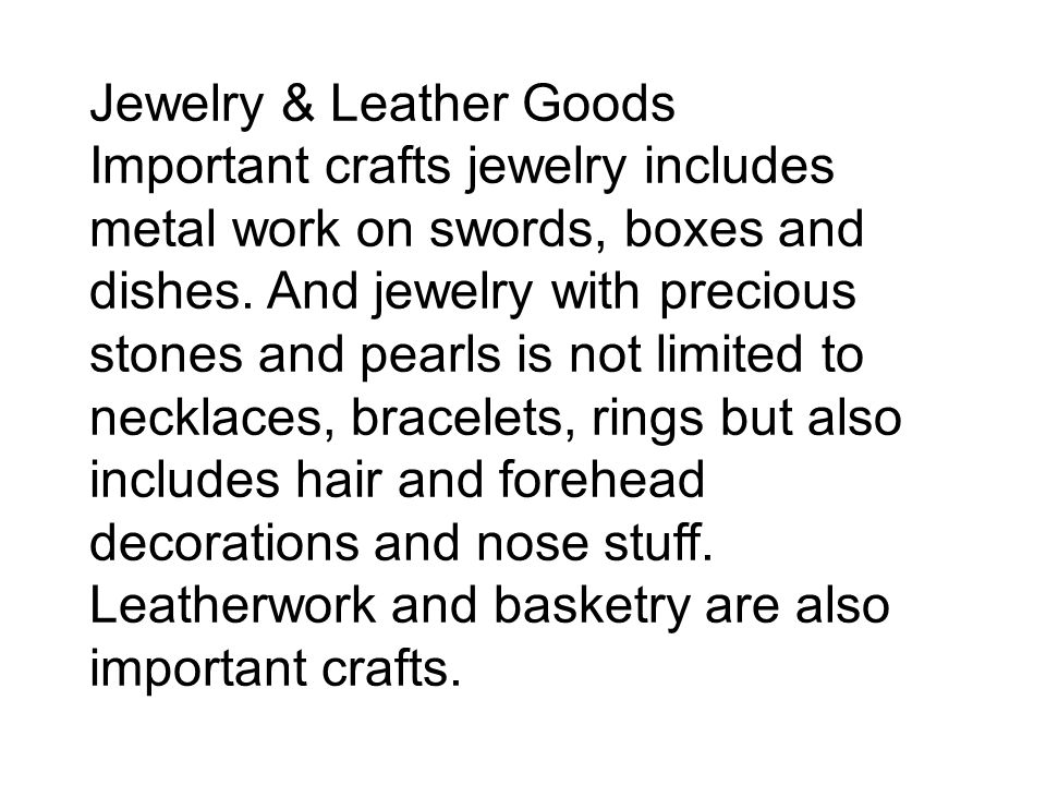 Jewelry & Leather Goods