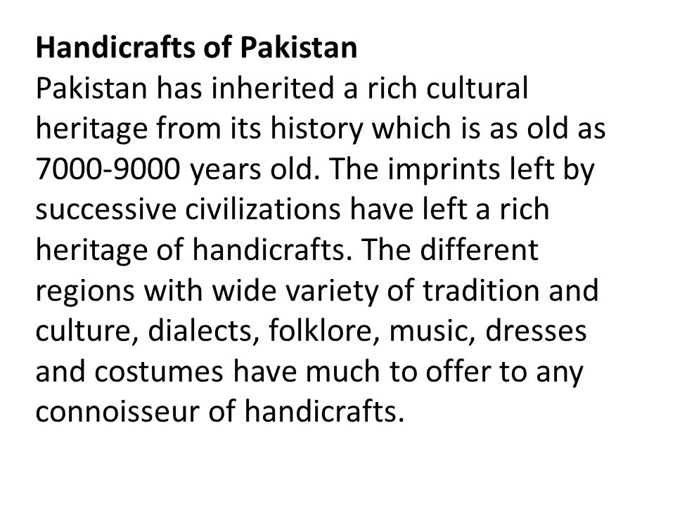 Handicrafts of Pakistan