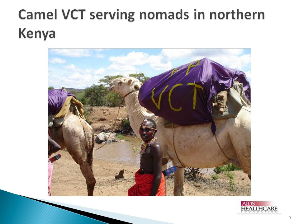 Camel VCT serving nomads in northern Kenya