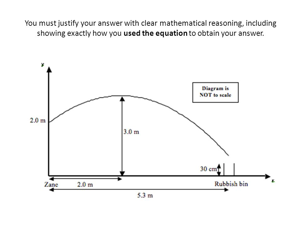 You must justify your answer with clear mathematical reasoning, including showing exactly how you used the equation to obtain your answer.