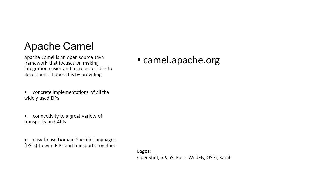 Apache Camel camel.apache.org