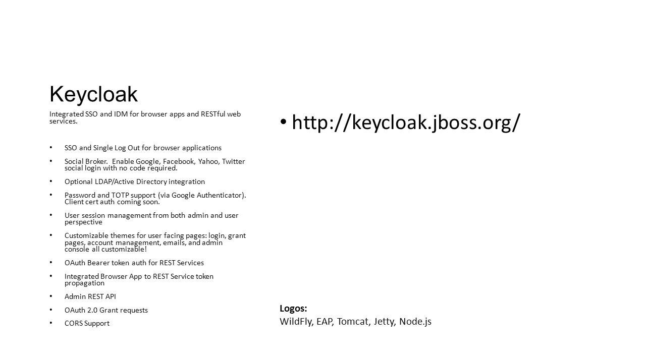 Keycloak http://keycloak.jboss.org/ Logos: