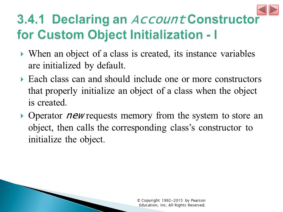 3.4.1 Declaring an Account Constructor for Custom Object Initialization - I