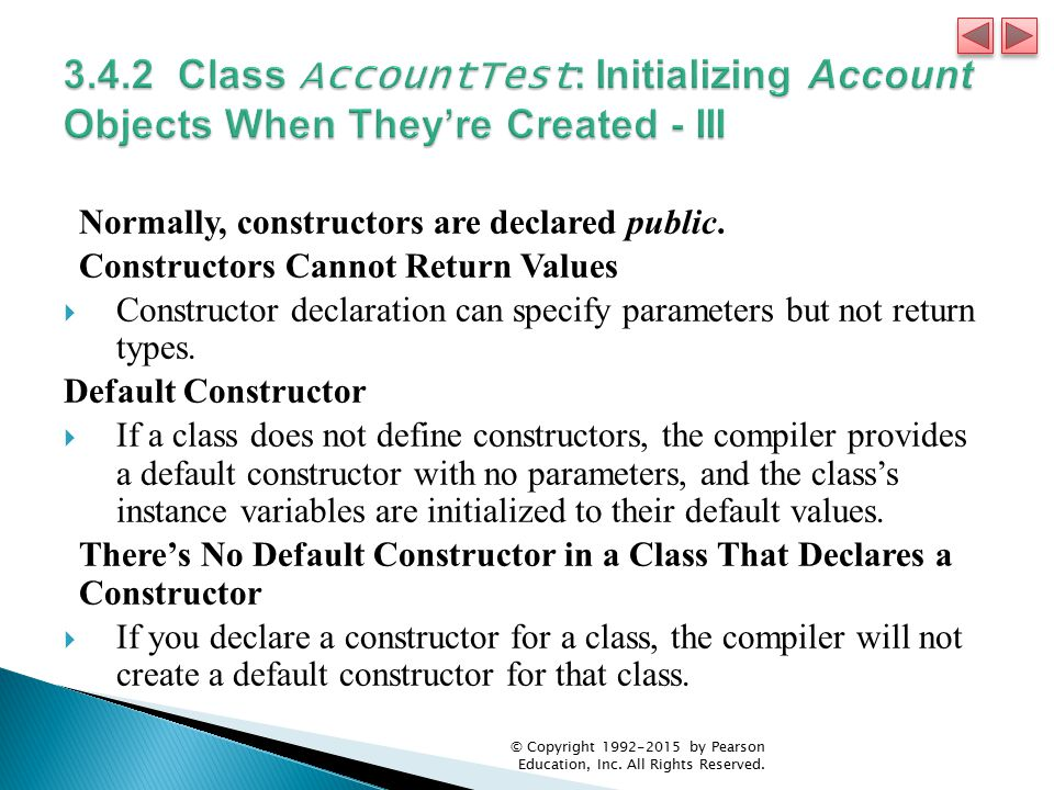 3.4.2 Class AccountTest: Initializing Account Objects When They're Created - III
