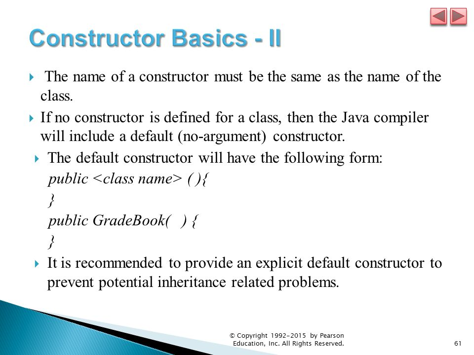 how to create a default constructor in java