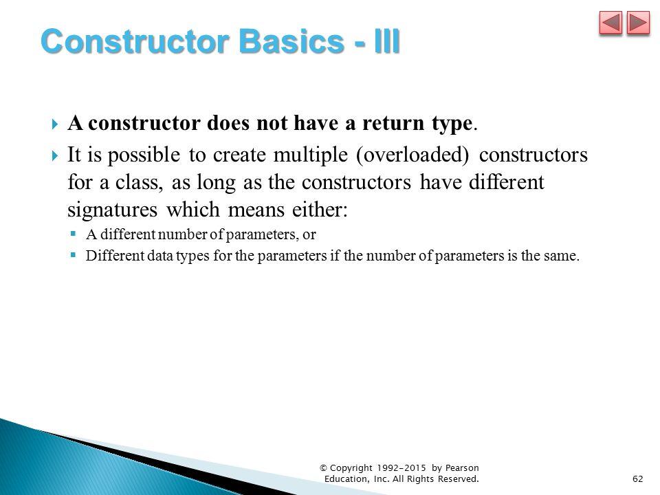 Constructor Basics - III