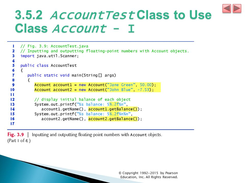 3.5.2 AccountTest Class to Use Class Account - I