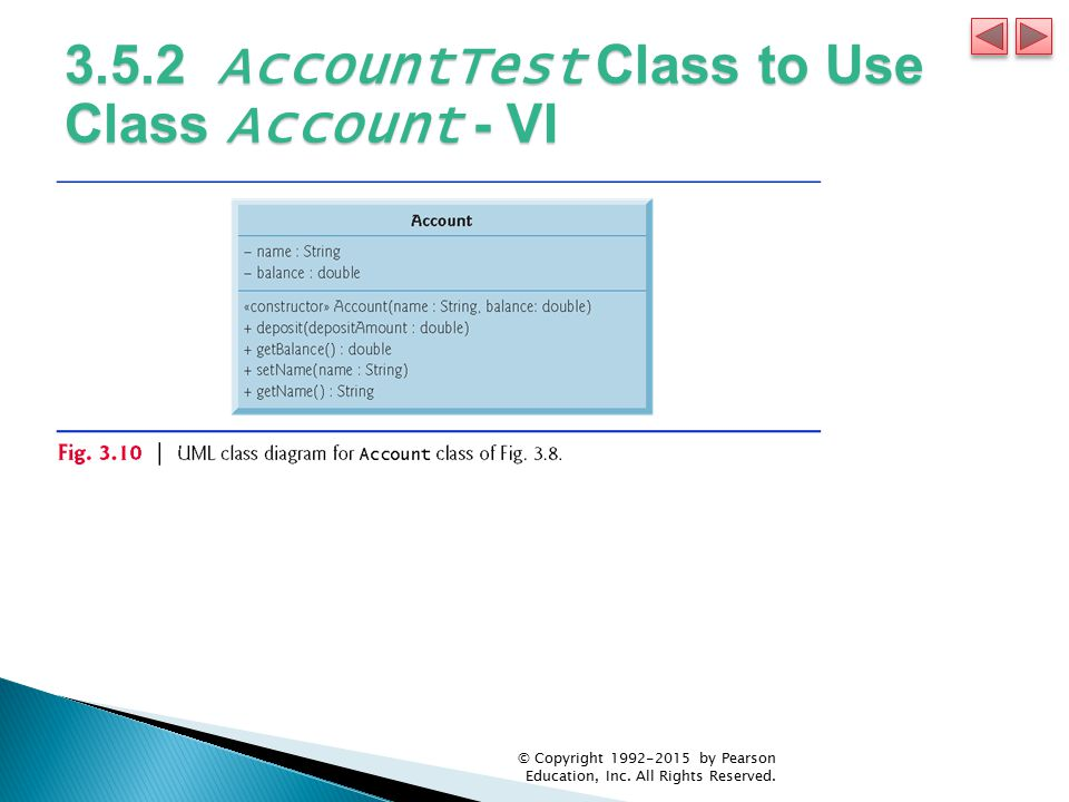 3.5.2 AccountTest Class to Use Class Account - VI
