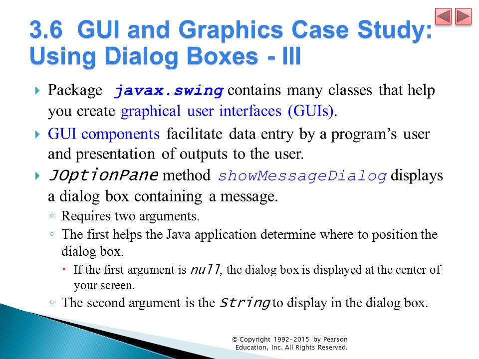 3.6 GUI and Graphics Case Study: Using Dialog Boxes - III
