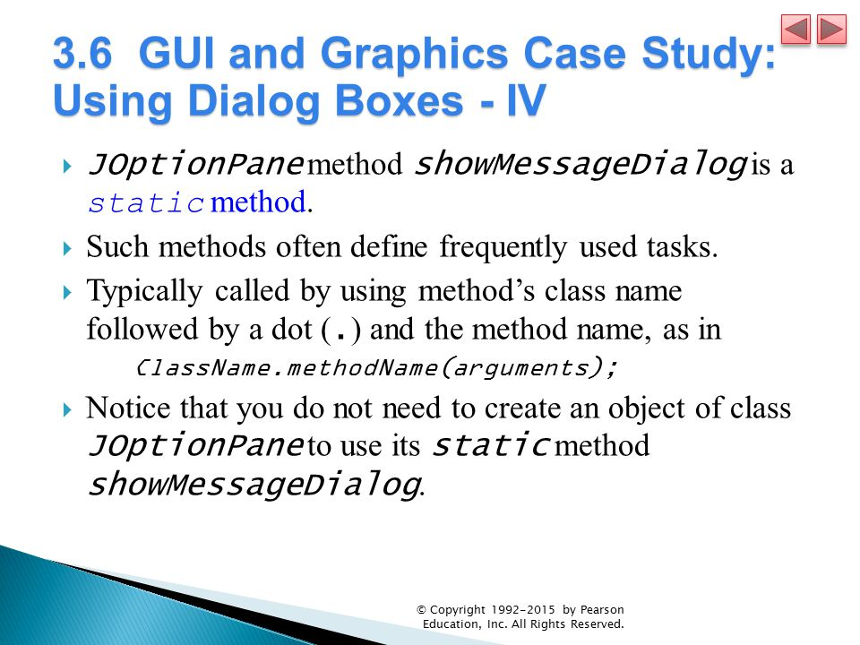 3.6 GUI and Graphics Case Study: Using Dialog Boxes - IV