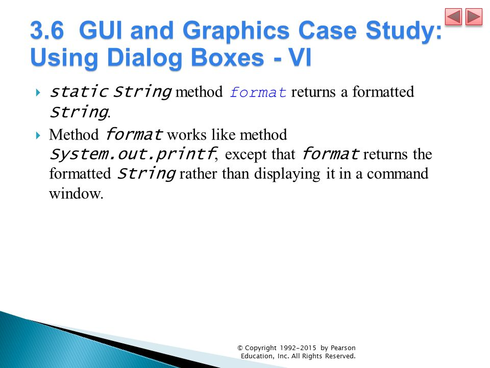 3.6 GUI and Graphics Case Study: Using Dialog Boxes - VI