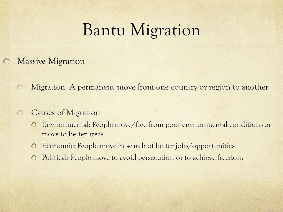 Bantu Migration Massive Migration