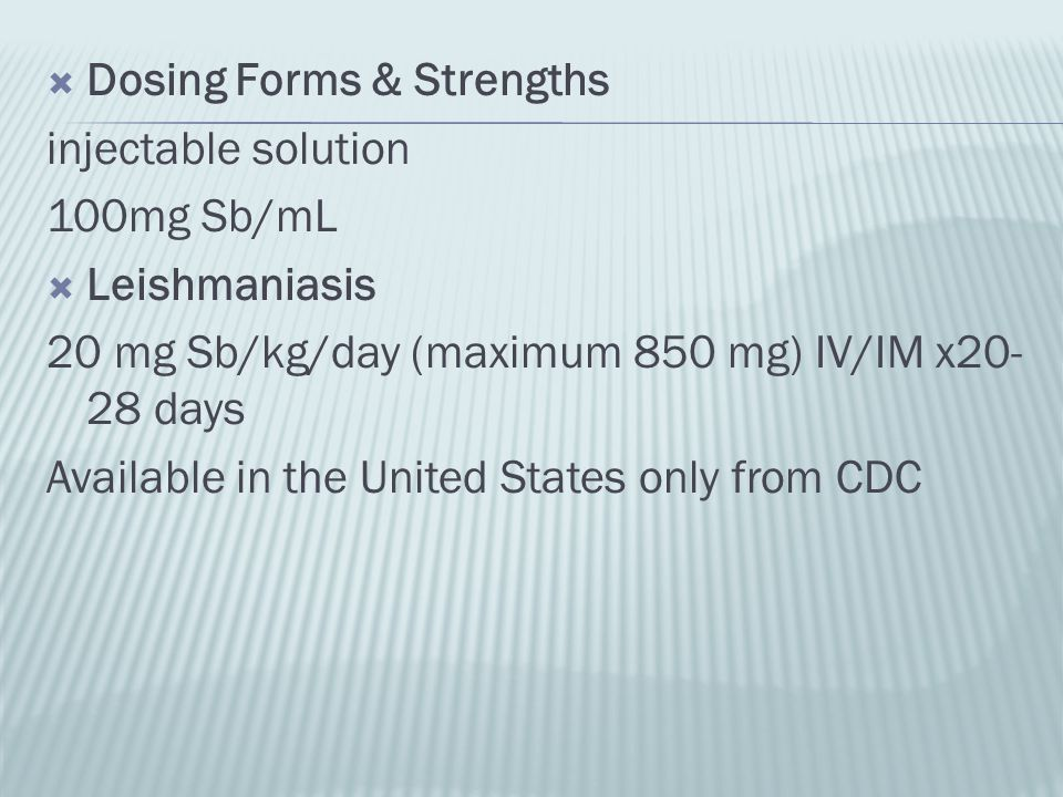 Dosing Forms & Strengths