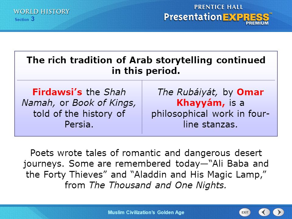 The rich tradition of Arab storytelling continued in this period.