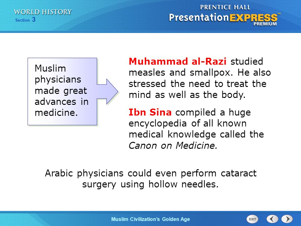 Muhammad al-Razi studied measles and smallpox