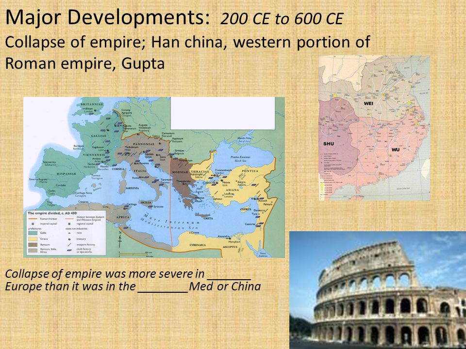 Major Developments: 200 CE to 600 CE