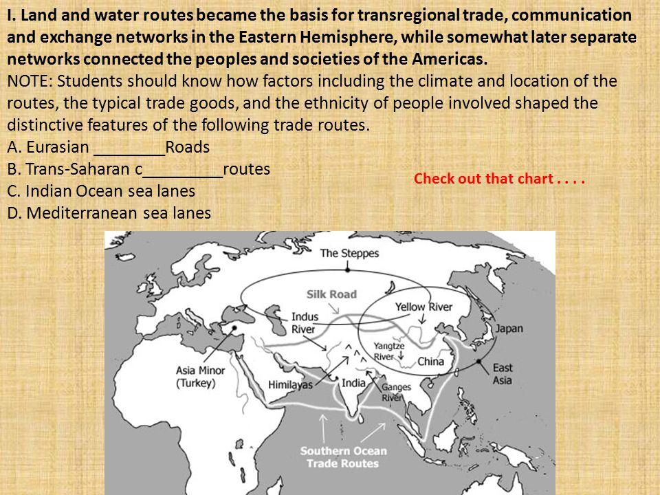 A. Eurasian ________Roads B. Trans-Saharan c_________routes