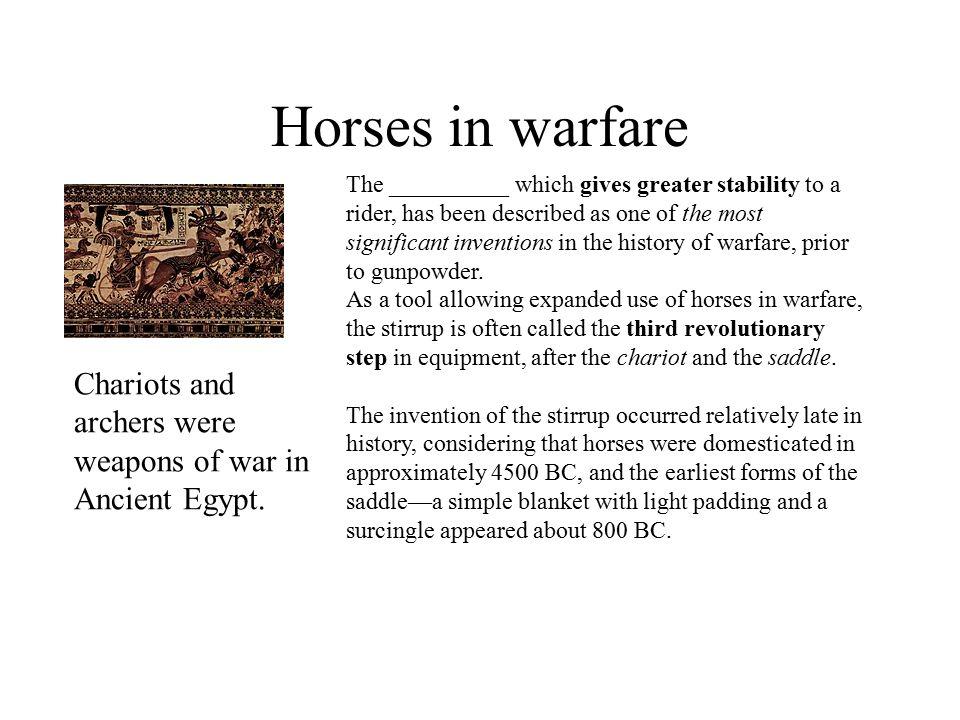 Horses in warfare