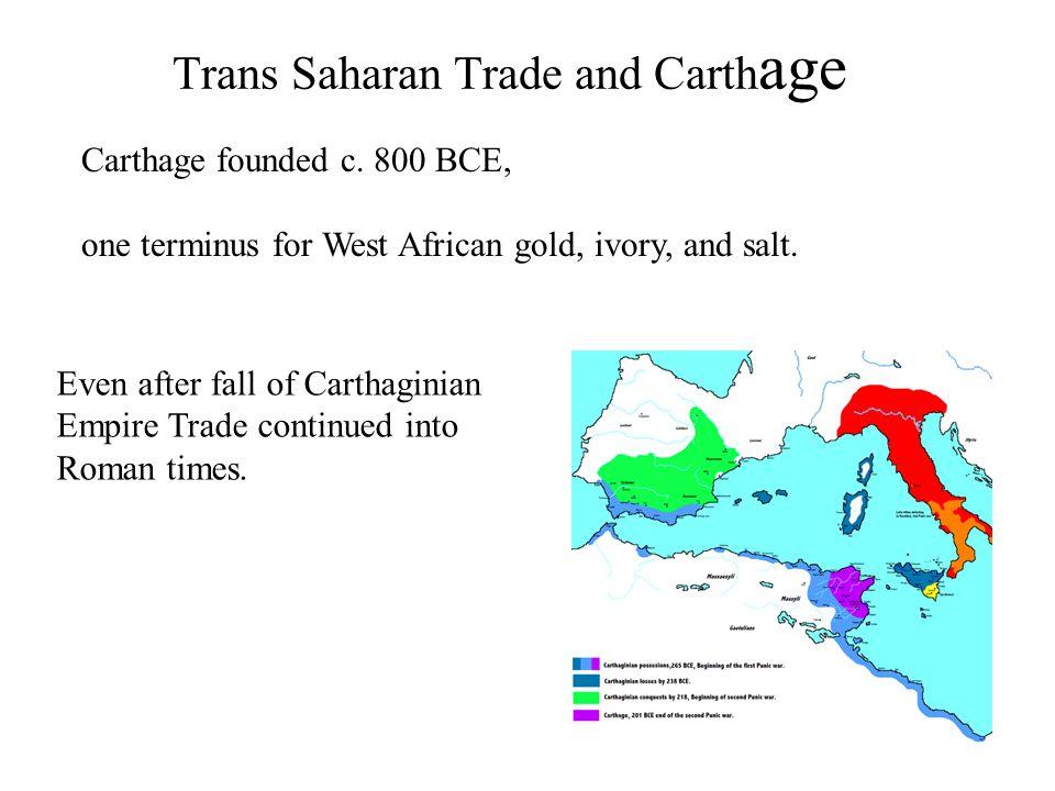 Trans Saharan Trade and Carthage