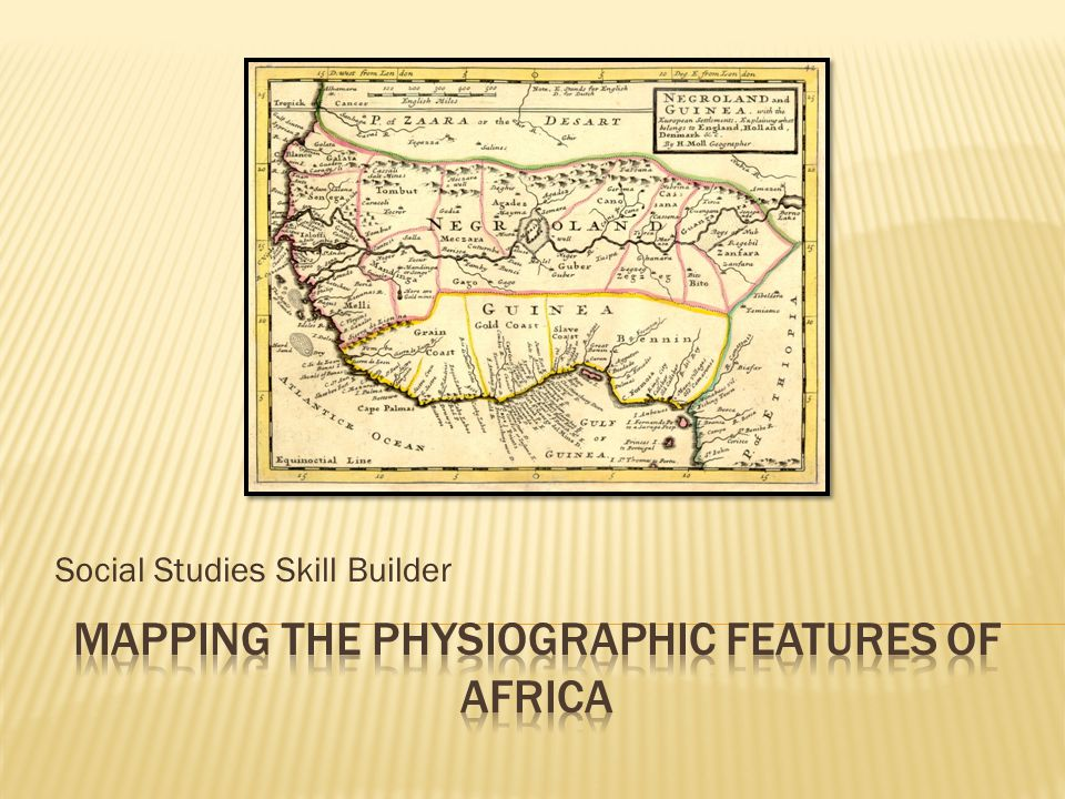 Mapping the Physiographic Features of Africa