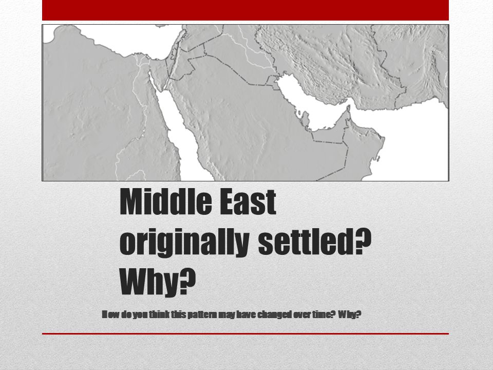 Day 6 This could be a warm-up. See Population Density of the Middle East map for answer. (Word doc on server)