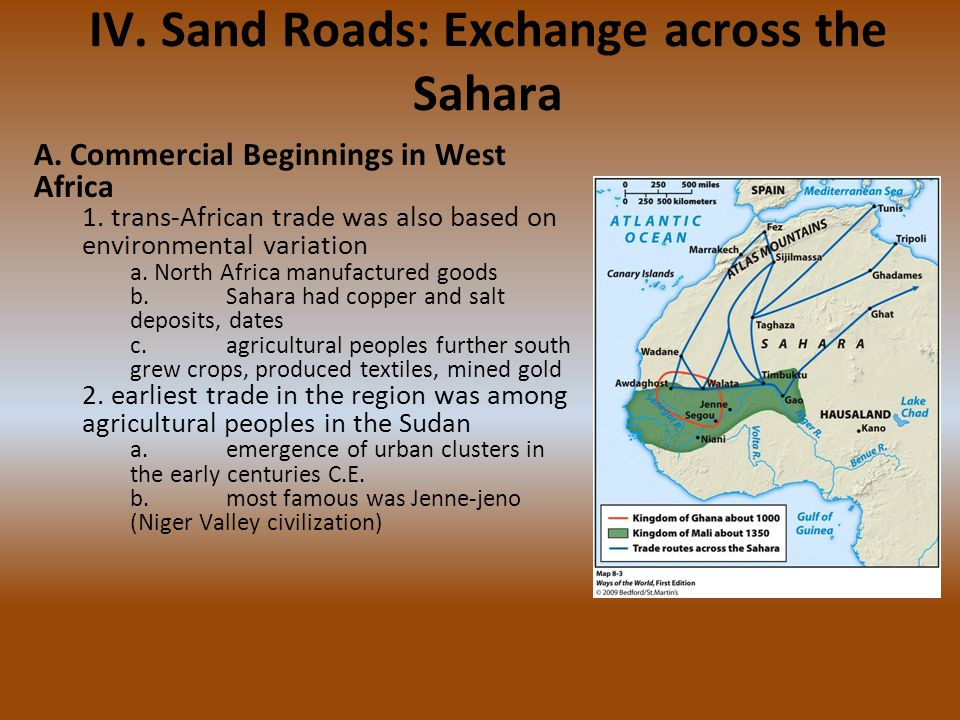 IV. Sand Roads: Exchange across the Sahara