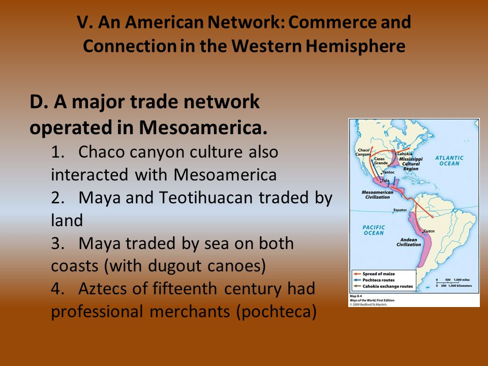D. A major trade network operated in Mesoamerica.