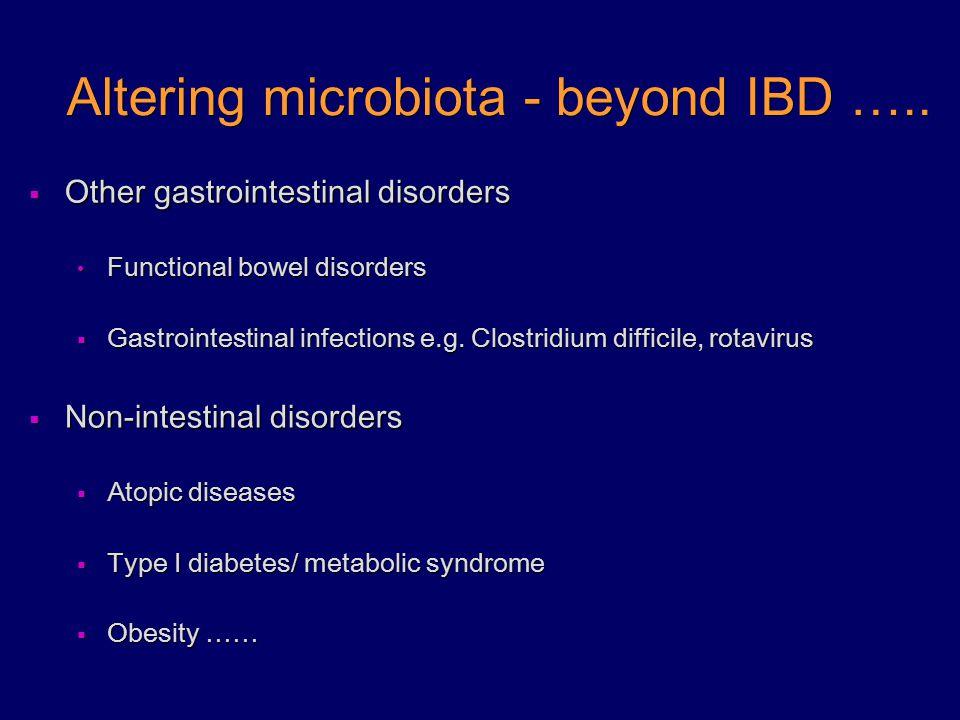Altering microbiota - beyond IBD …..