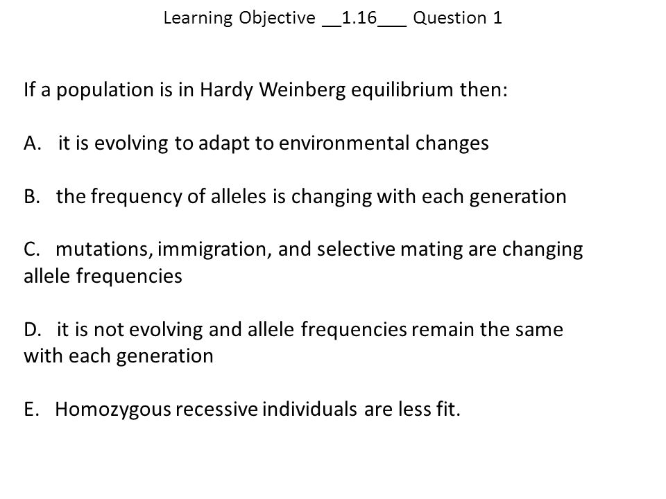 Learning Objective __1.16___ Question 1