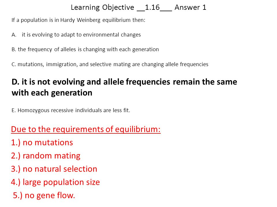 Learning Objective __1.16___ Answer 1