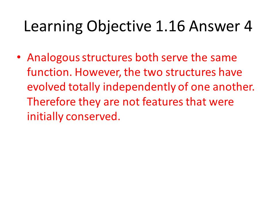 Learning Objective 1.16 Answer 4