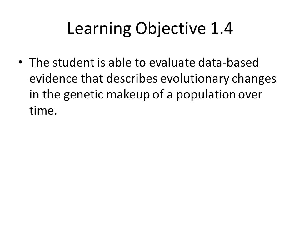 Learning Objective 1.4