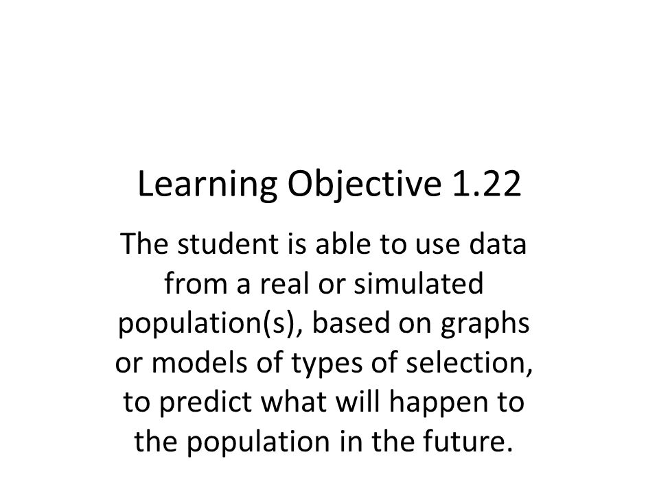Learning Objective 1.22