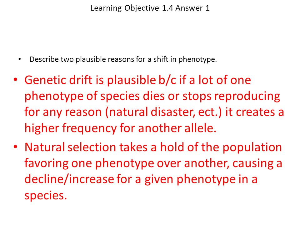 Learning Objective 1.4 Answer 1