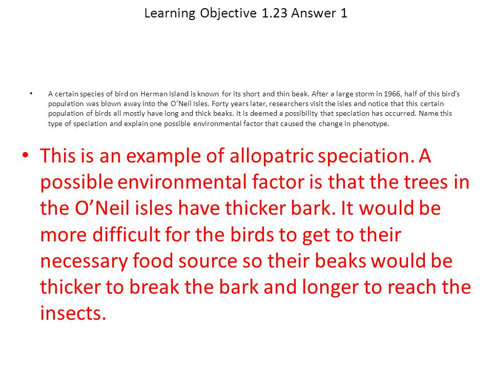 Learning Objective 1.23 Answer 1