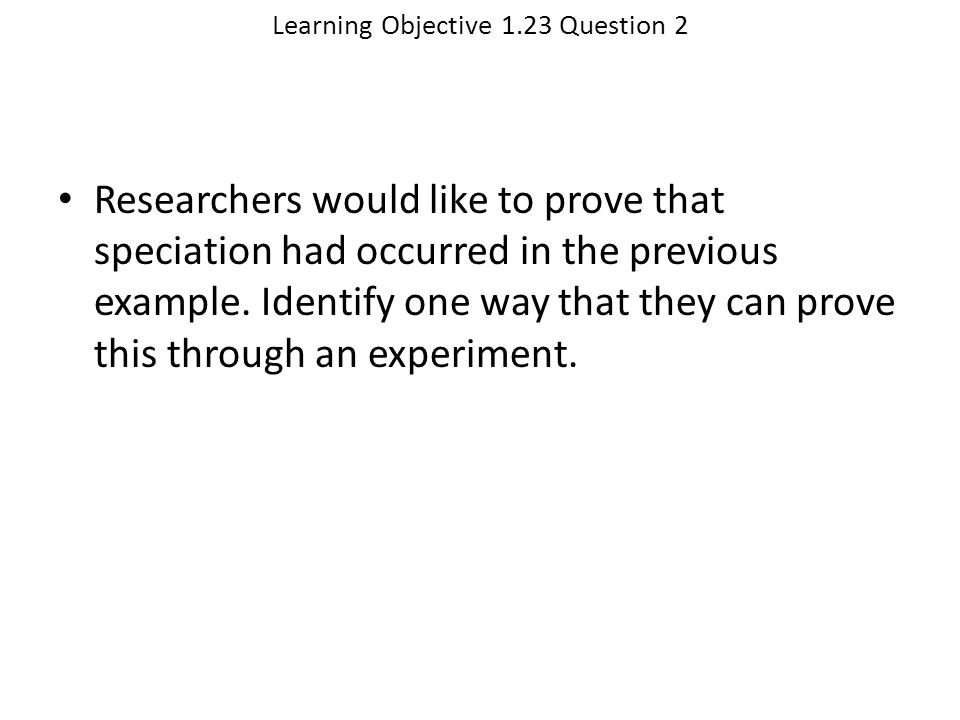 Learning Objective 1.23 Question 2