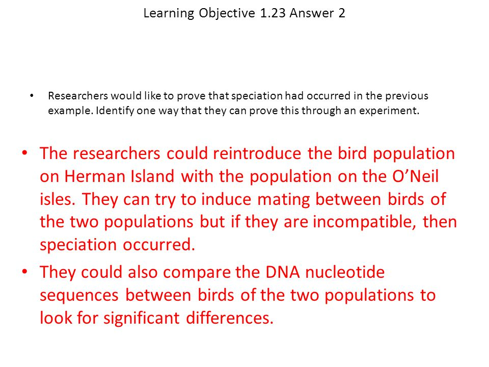 Learning Objective 1.23 Answer 2