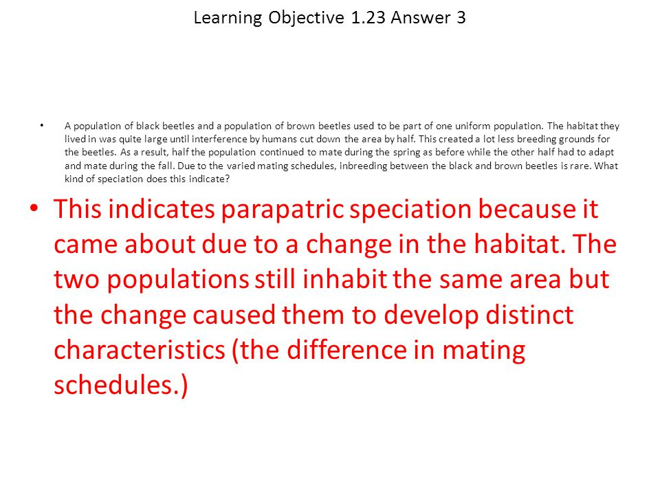 Learning Objective 1.23 Answer 3
