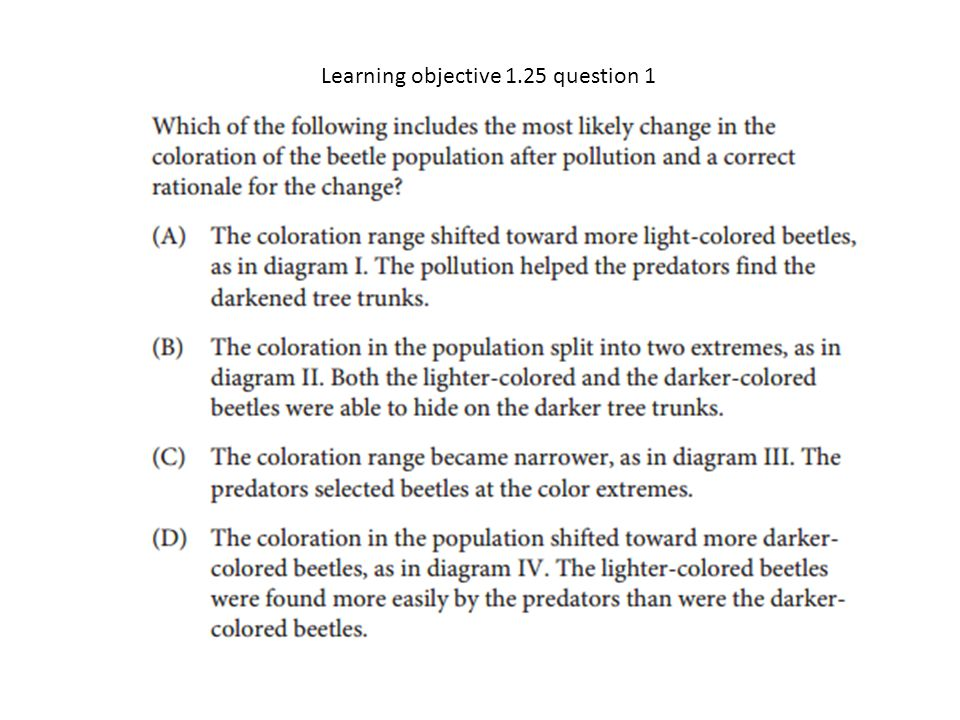 Learning objective 1.25 question 1