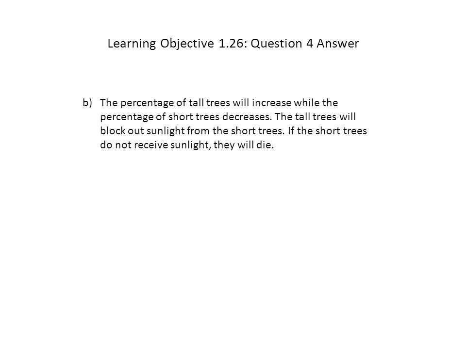 Learning Objective 1.26: Question 4 Answer