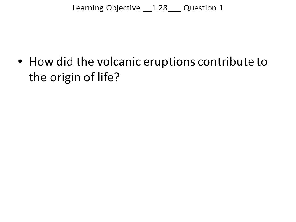 Learning Objective __1.28___ Question 1