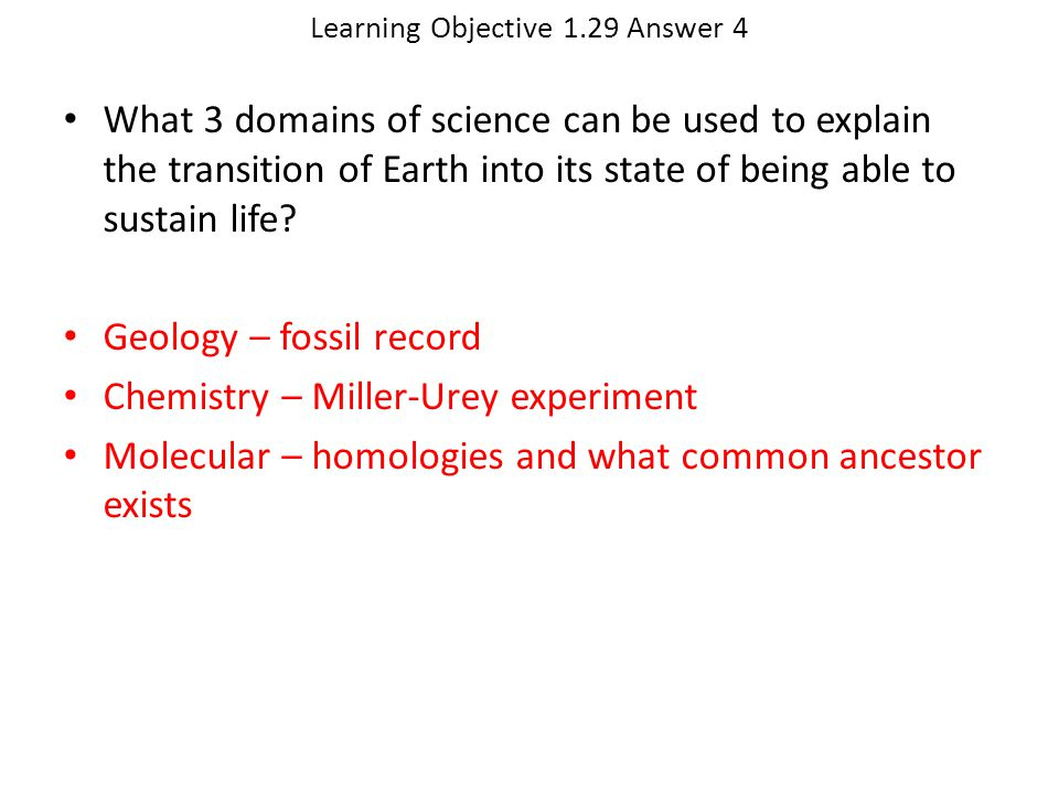 Learning Objective 1.29 Answer 4