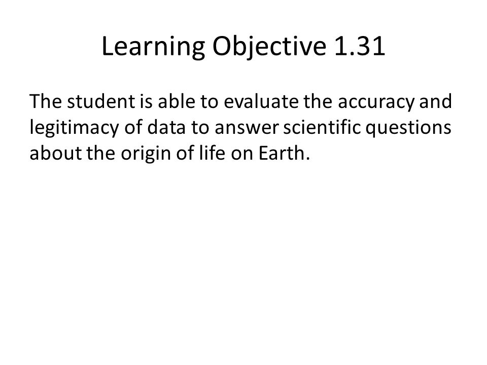 Learning Objective 1.31