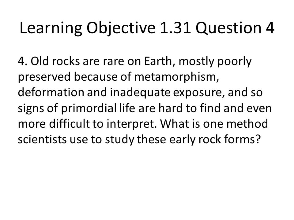 Learning Objective 1.31 Question 4