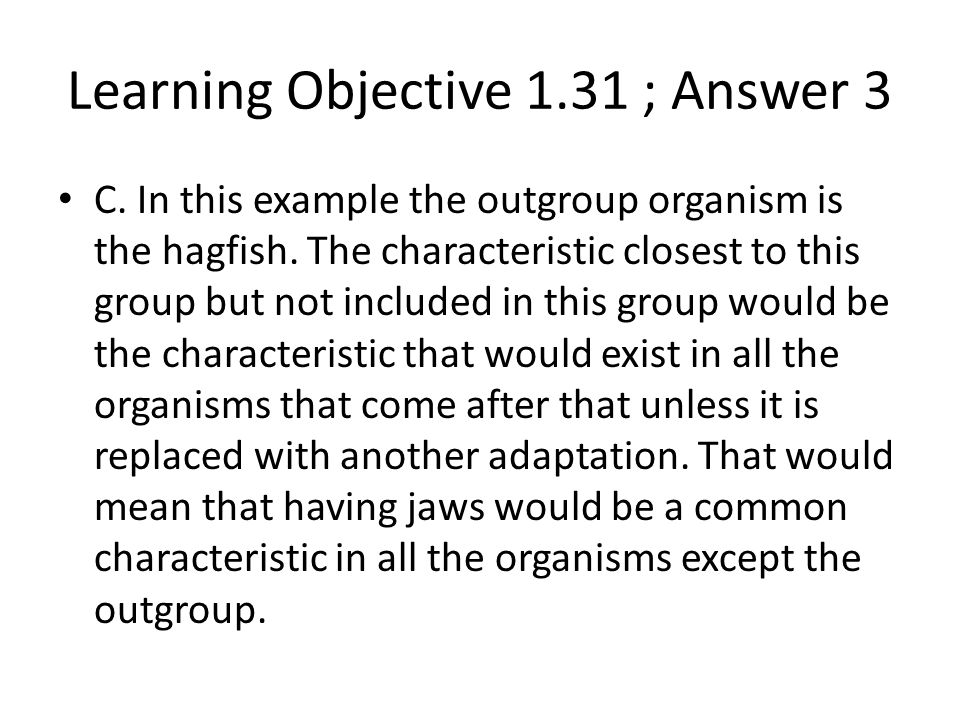 Learning Objective 1.31 ; Answer 3